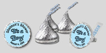 Blue It's a Boy Birth Announcement Hershey Kisses