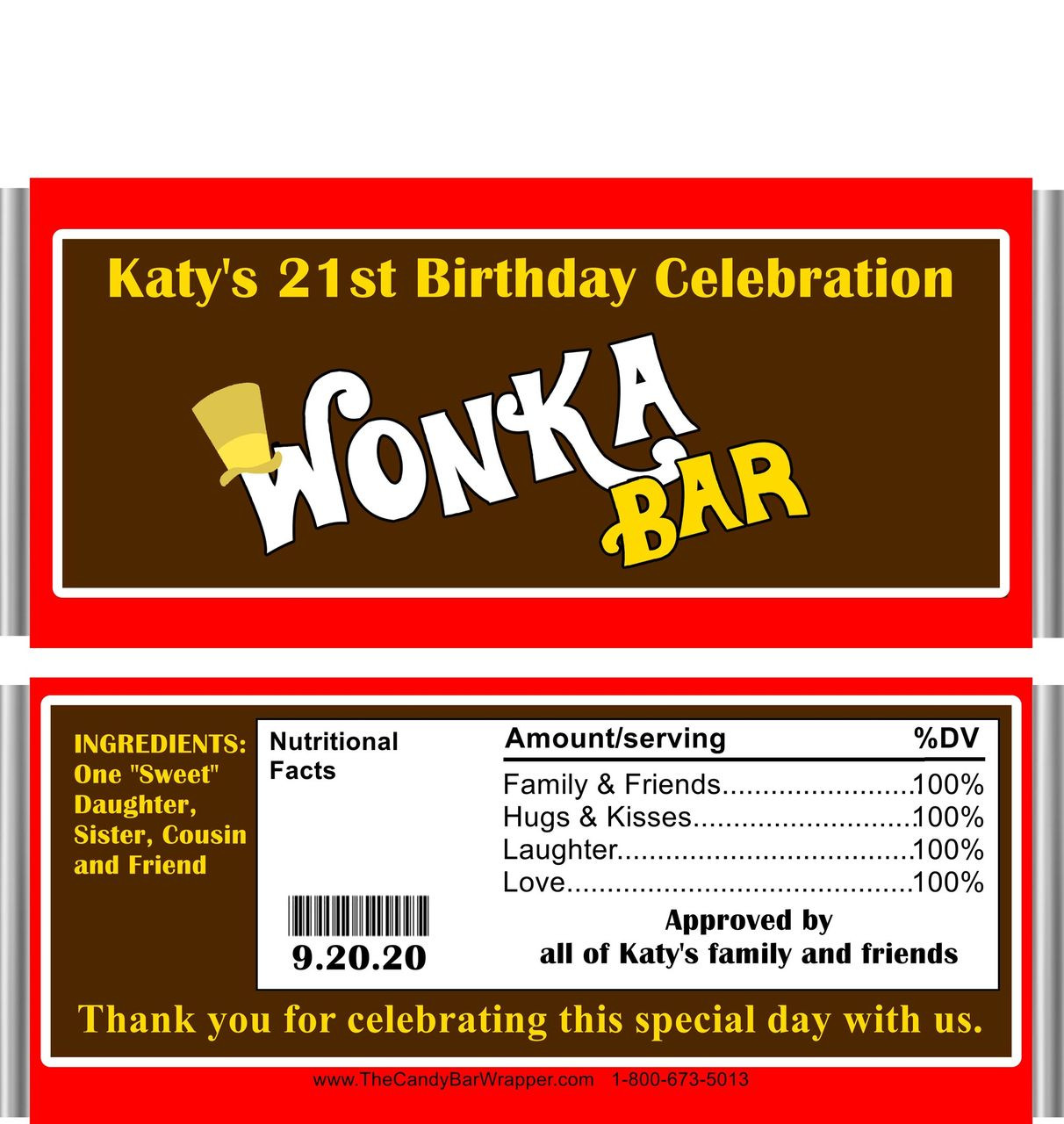 picture about Printable Wonka Bar Wrapper known as Publicado Willy Wonka Themed Sweet Bars
