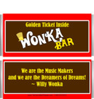 Willy Wonka Themed Candy Bars