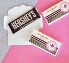 Pink Baby Shower Candy Bar Covers