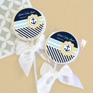 Nautical Baby Shower Personalized Lollipop Favors
