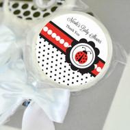 Ladybug Personalized Lollipop Favors