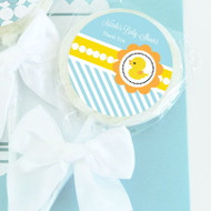 Rubber Ducky Personalized Lollipop Favors