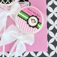 Pink Monkey Party Personalized Lollipop Favors