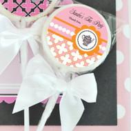 Tea Party Personalized Lollipop Favors