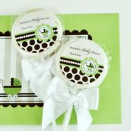 Personalized Lollipop Favors - Green Baby