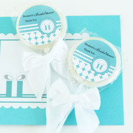 Personalized Lollipop Favors - Something Blue