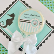 Personalized Lollipop Favors - Beach Party