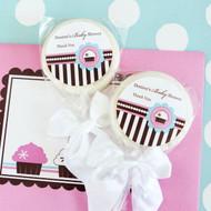 Personalized Lollipop Favors - Cupcake Party