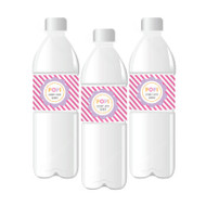 Going to Pop - Pink Personalized Water Bottle Labels