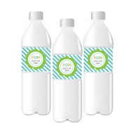 Going to Pop - Blue Personalized Water Bottle Labels