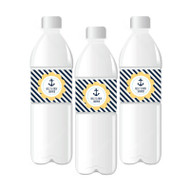 Nautical Baby Shower Personalized Water Bottle Labels