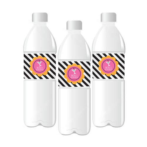 Bachelorette Party Personalized Water Bottle Labels