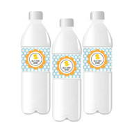 Rubber Ducky Personalized Water Bottle Labels