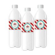 Circus Carnival Party Personalized Water Bottle Labels