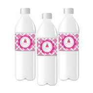 Princess Party Personalized Water Bottle Labels
