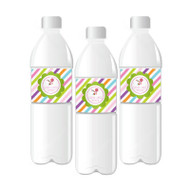 Sweet Shoppe Party Personalized Water Bottle Labels