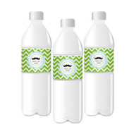 Little Man Party Personalized Water Bottle Labels