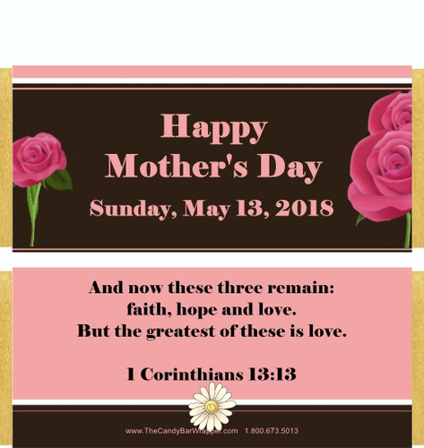 Mother's Day Custom Candy Wrappers