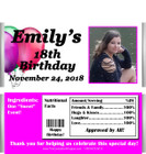 Birthday Girl Photo Candy  Bar Wrappers