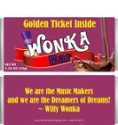 Willy Wonka Themed Candy Wrappers