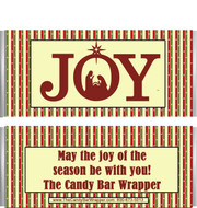 Joy Nativity Candy Wrappers