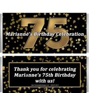75th Birthday Candy Bar Wrappers