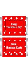 Mini Valentine Polka Dot Candy Bar