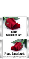 Mini Two Roses Valentine Candy Bar