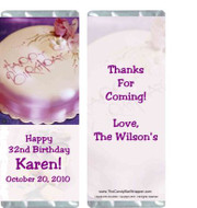 Birthday Elegance Candy Wrapper Sample