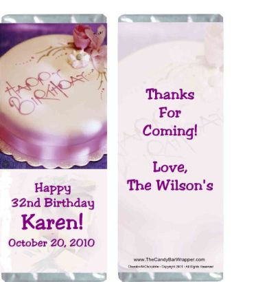 Birthday Elegance Candy Wrapper Sample