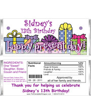 Presents Candy Bar Wrappers Sample