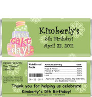 Colorful Cake Candy Bar Wrappers Sample