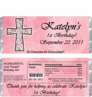 First Birthday Girl Candy Wrappers Sample