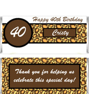 Leopard Birthday Candy Bar Wrappers