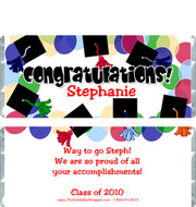 Graduation 9 Candy Wrappers Sample