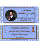 First Holy Communion Blue Candy Wrappers Sample