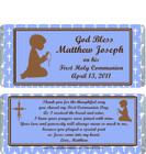 First Holy Communion Blue Candy Wrappers Sample 2