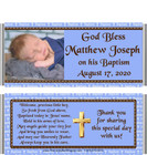 Baptism Boy Blue Candy Wrapper with Pic