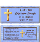 Baptism Boy Blue Candy Wrapper