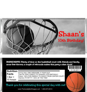 Basketball Candy Wrappers Sample