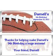 Football 1 Candy Wrappers Sample