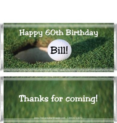 Golf Candy Bar Wrappers Sample