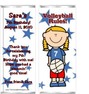 Volleyball Rules Candy Bar Wrappers Sample