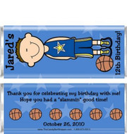 Basketball Player Candy Wrappers Sample
