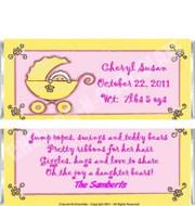 Girl Stroller Candy Wrapper Sample