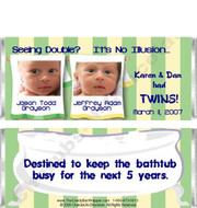 Candy Wrapper Birth Announcements Sample