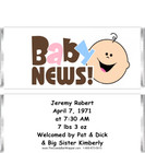 Baby News Candy Bar Wrappers Sample