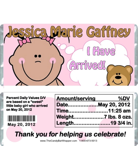 Cute Baby Girl Candy Bar Wrappers Sample