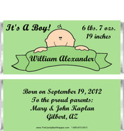 Banner Baby Birth Announcement Candy Wrappers